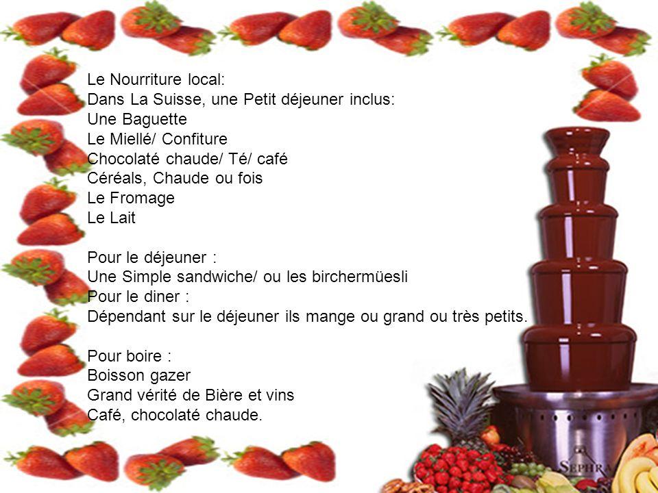 Le Nourriture local: Dans La Suisse, une Petit déjeuner inclus: Une Baguette. Le Miellé/ Confiture.