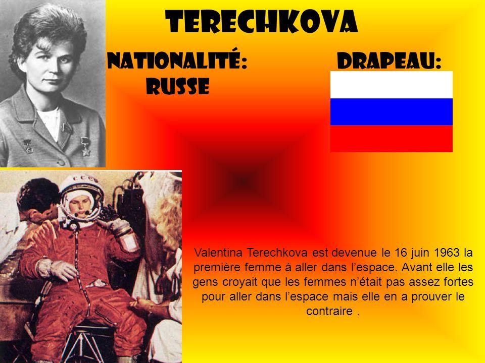 Terechkova Nationalité: Russe Drapeau:
