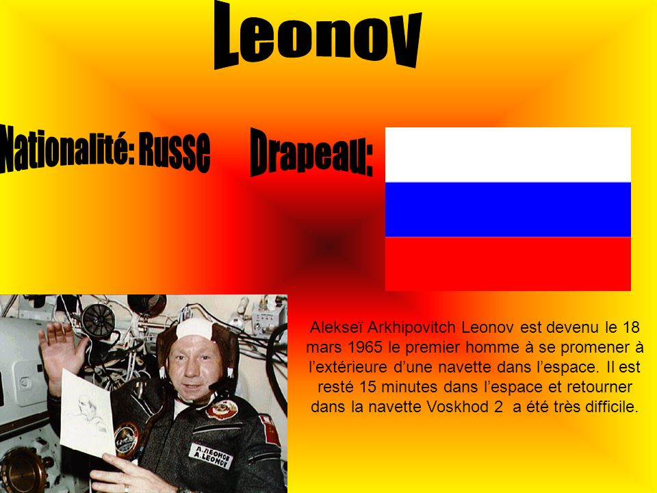 Leonov Nationalité: Russe Drapeau: