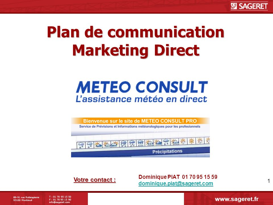 Plan de communication Marketing Direct