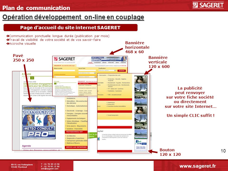 Opération développement on-line en couplage