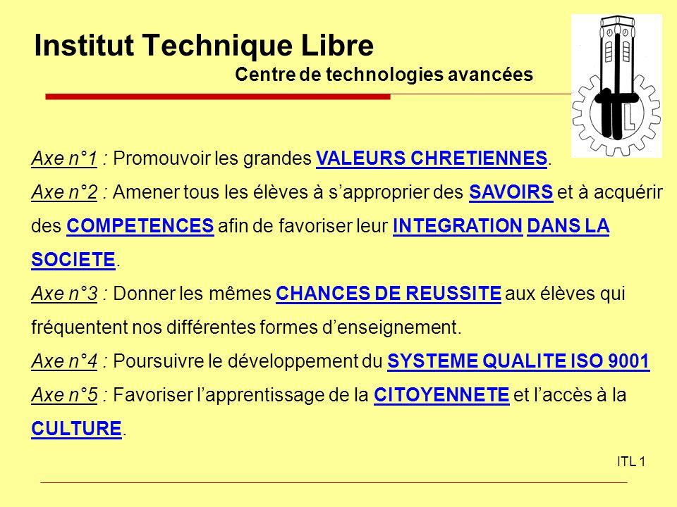 Institut Technique Libre Centre de technologies avancées