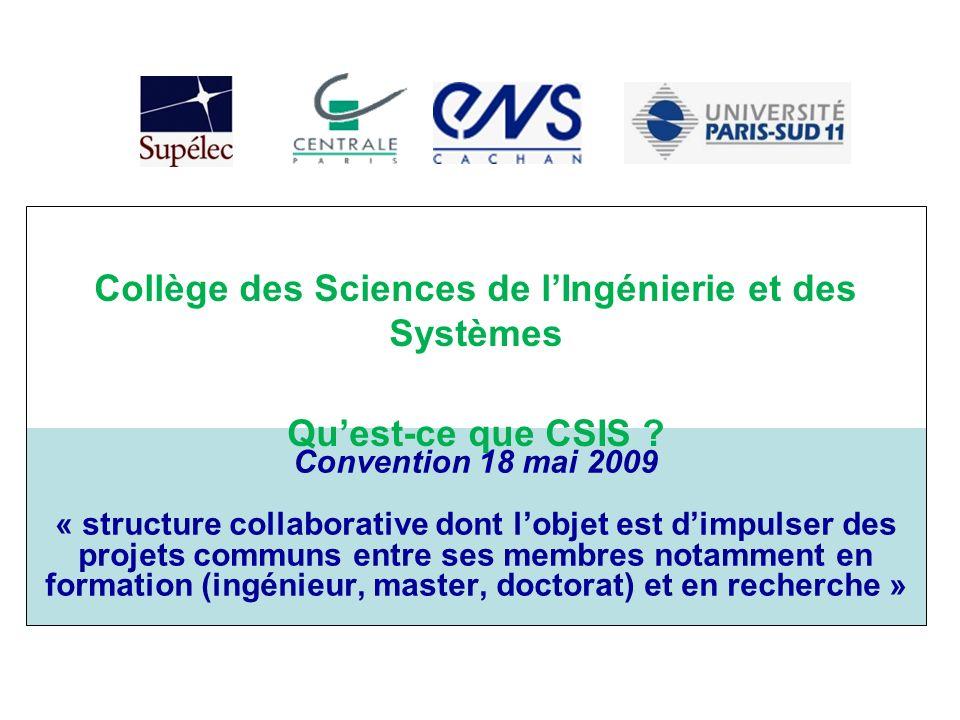 Collège des Sciences de l'Ingénierie et des Systèmes
