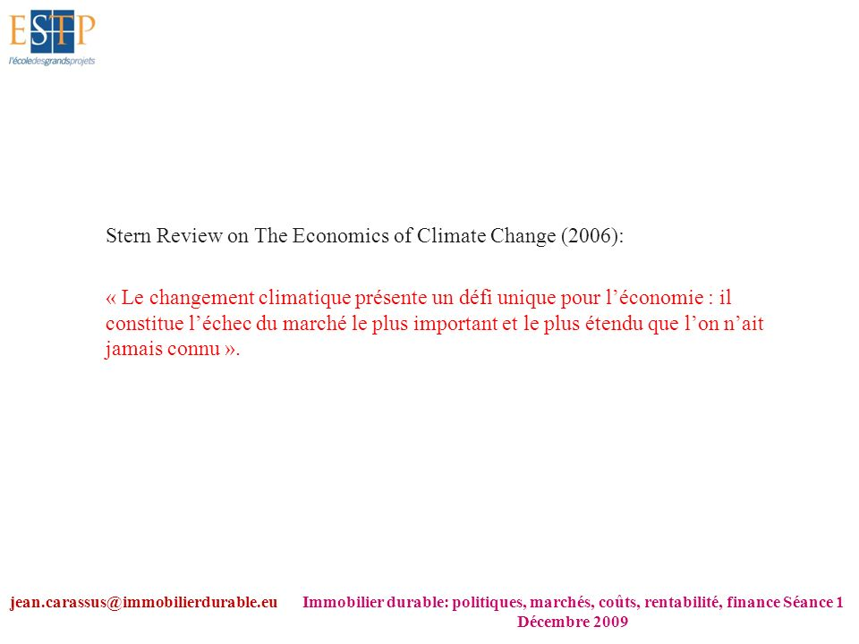 Stern Review on The Economics of Climate Change (2006):
