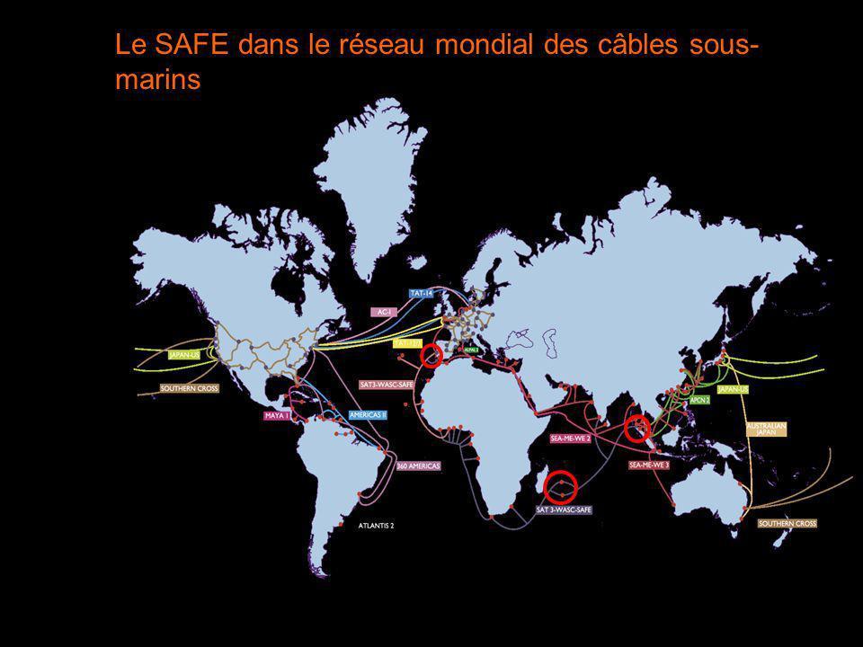 Le SAFE dans le réseau mondial des câbles sous-marins