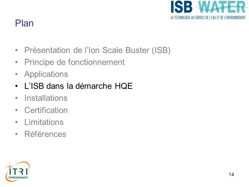 Plan Présentation de l'Ion Scale Buster (ISB)