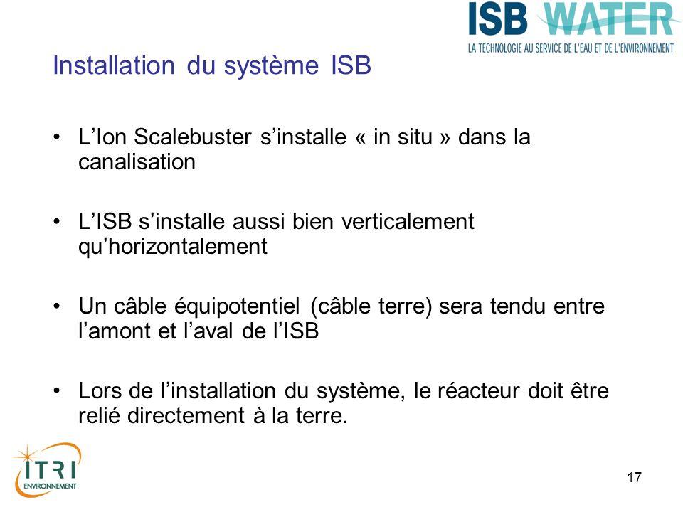 Installation du système ISB