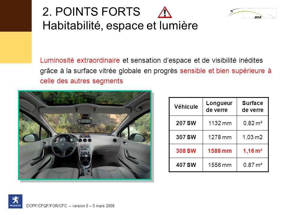 2. POINTS FORTS Habitabilité, espace et lumière