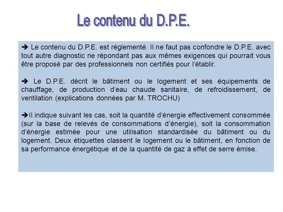 Le contenu du D.P.E.
