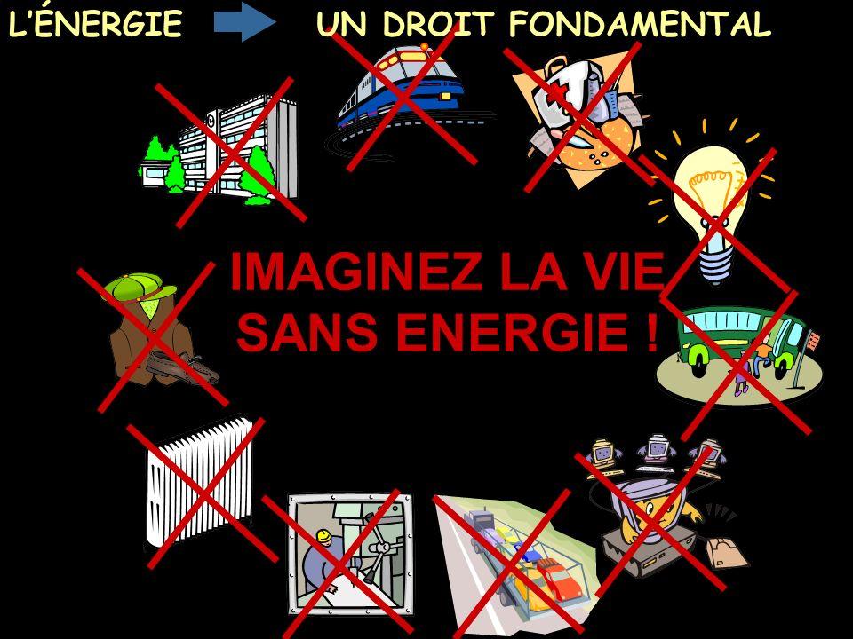 IMAGINEZ LA VIE SANS ENERGIE !