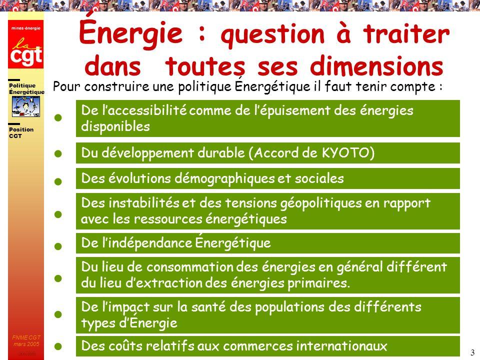 Énergie : question à traiter dans toutes ses dimensions