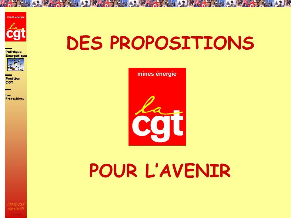 DES PROPOSITIONS POUR L'AVENIR