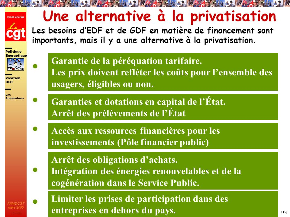 Une alternative à la privatisation