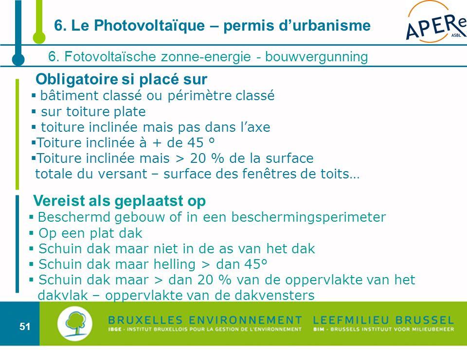 6. Le Photovoltaïque – permis d'urbanisme