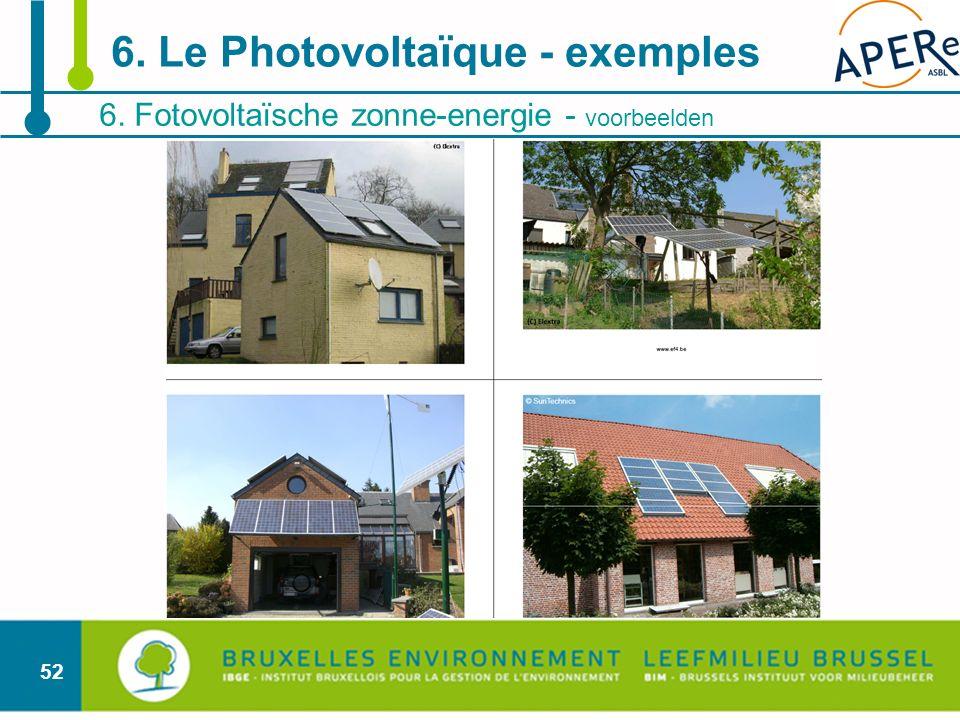 6. Le Photovoltaïque - exemples