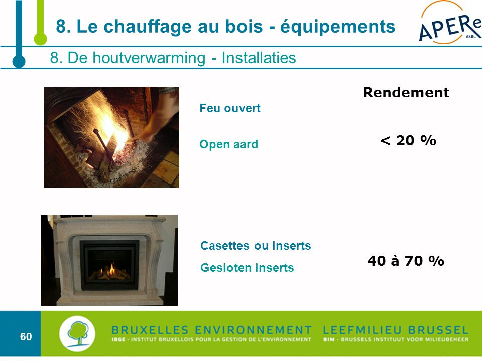 8. Le chauffage au bois - équipements