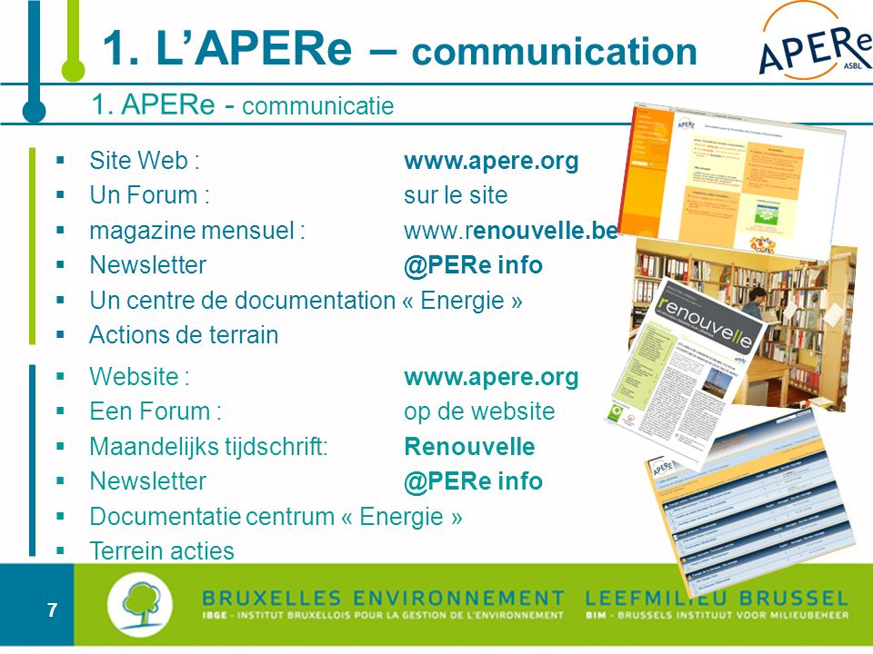 1. L'APERe – communication