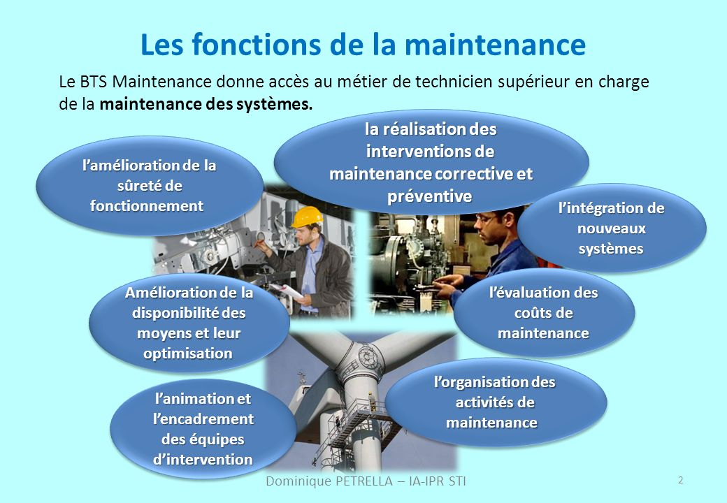 Les fonctions de la maintenance