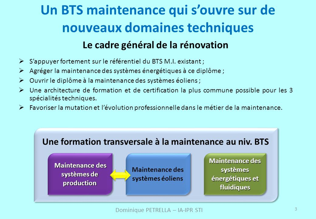 Un BTS maintenance qui s'ouvre sur de nouveaux domaines techniques