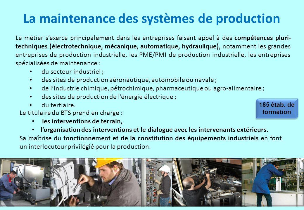 La maintenance des systèmes de production