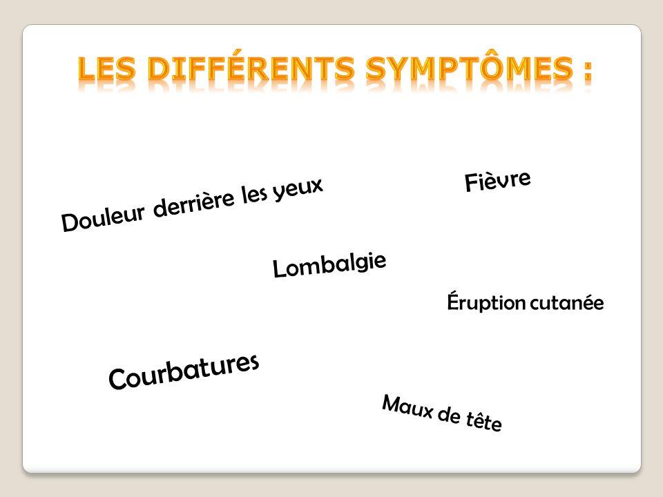 Les différents symptômes :