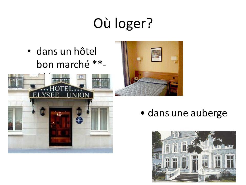 Où loger dans un hôtel bon marché **-*** dans une auberge