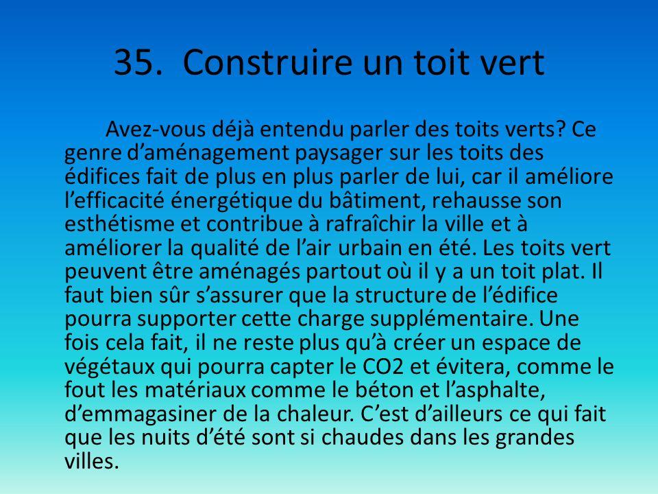 35. Construire un toit vert