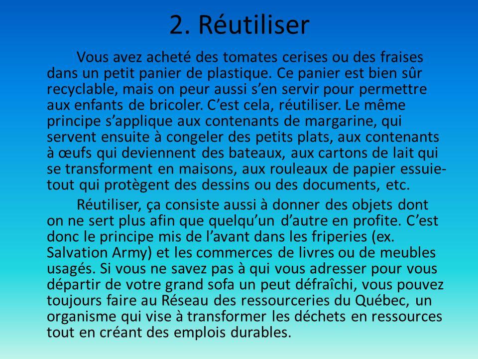 2. Réutiliser