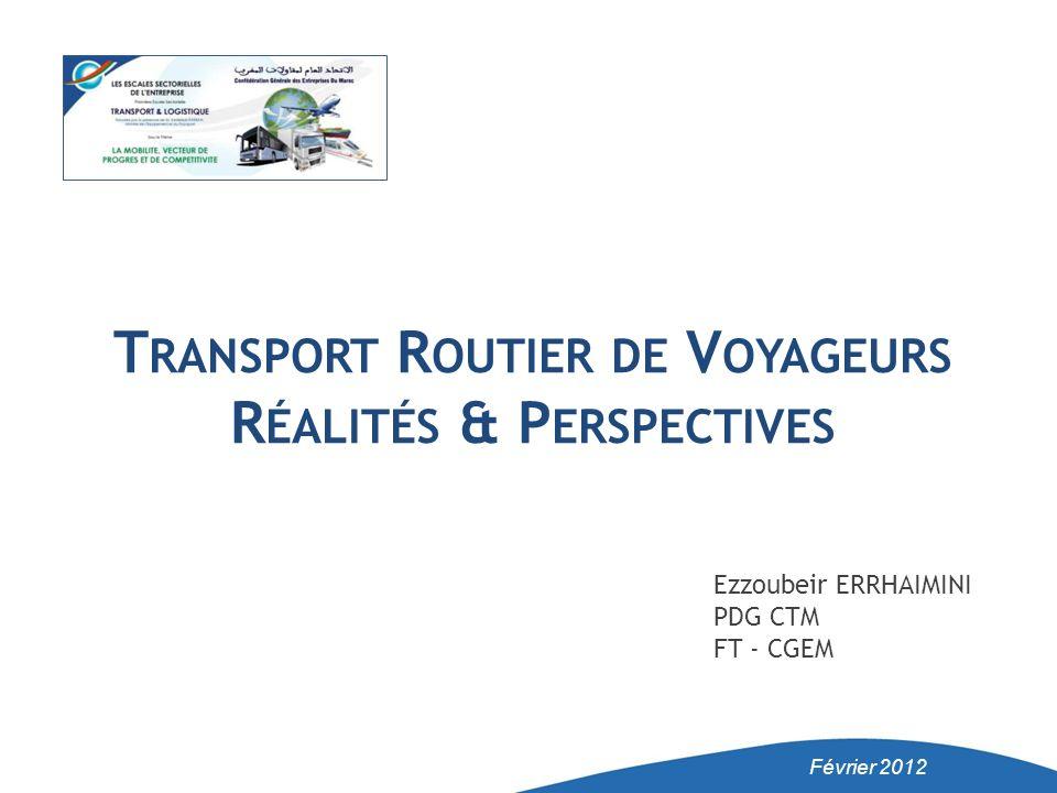 Transport Routier de Voyageurs Réalités & Perspectives