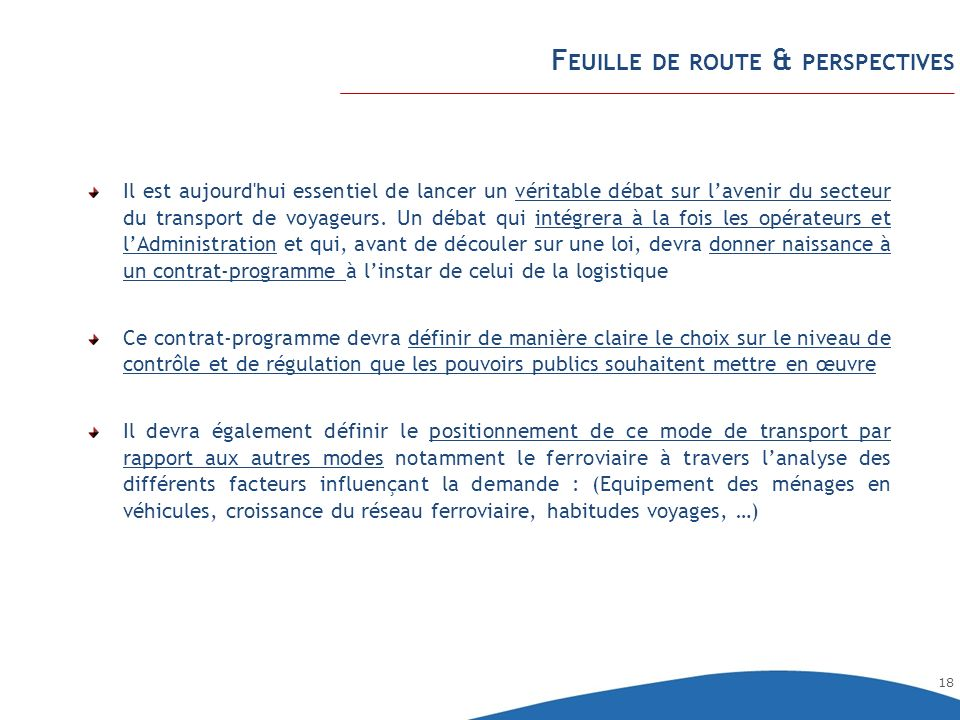 Feuille de route & perspectives