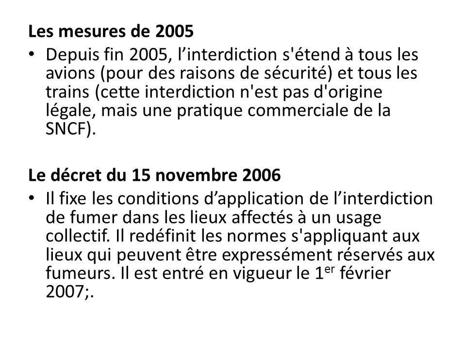 Les mesures de 2005