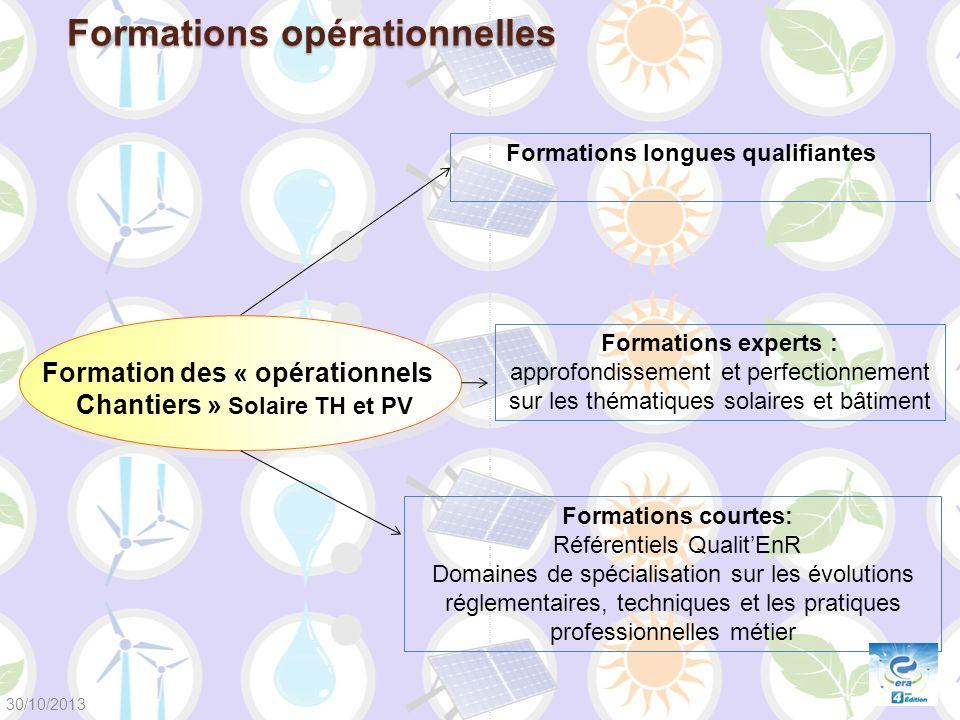 Formations longues qualifiantes Formation des « opérationnels