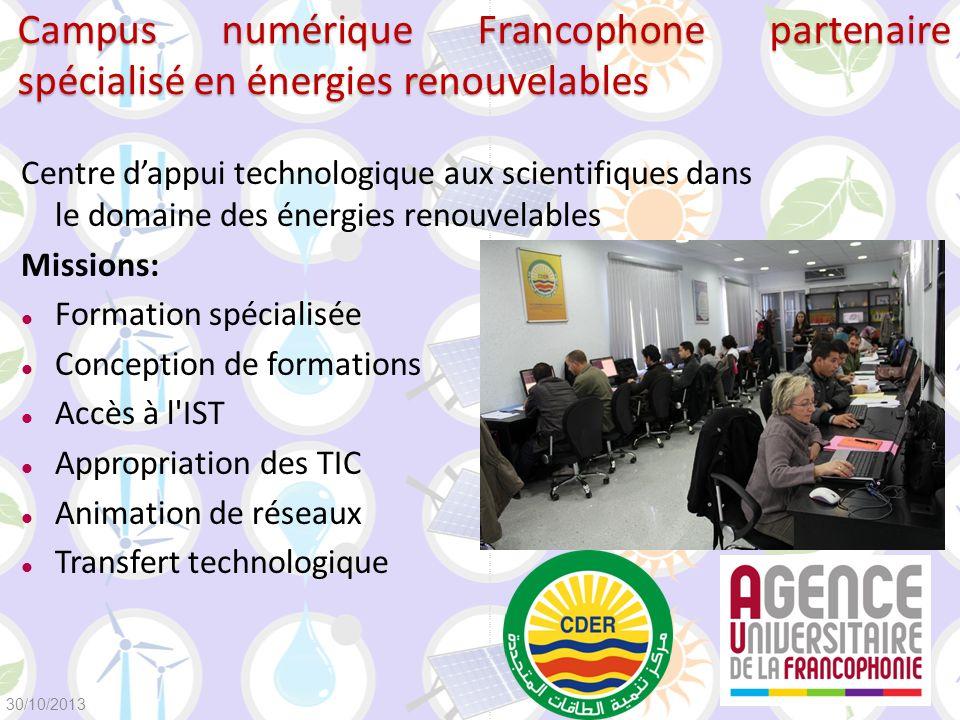 Campus numérique Francophone partenaire spécialisé en énergies renouvelables