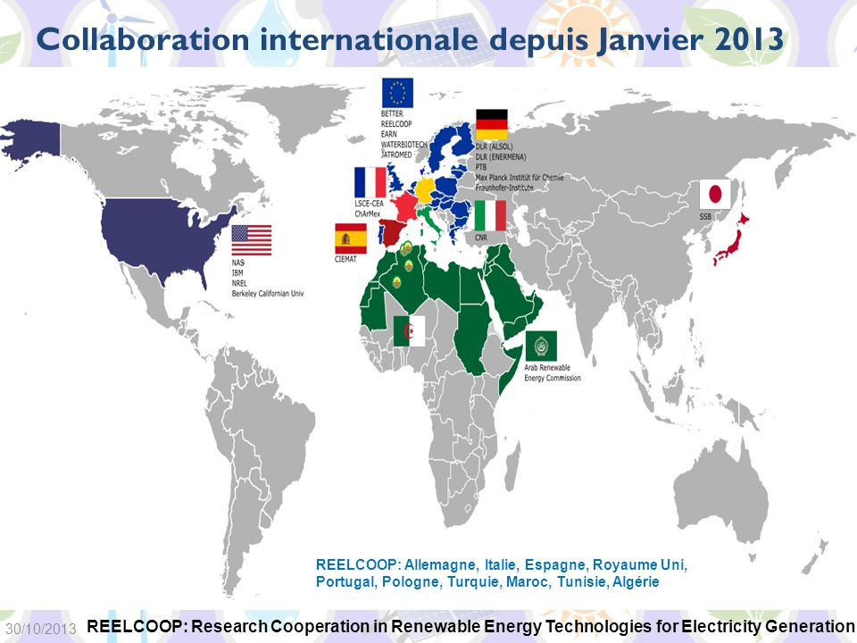 Collaboration internationale depuis Janvier 2013
