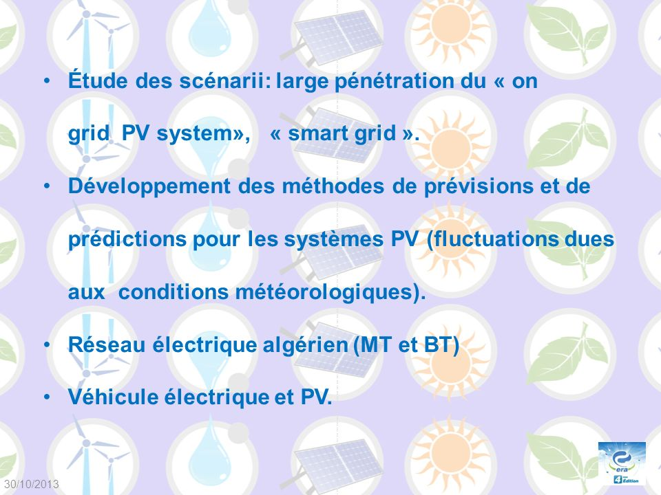 Réseau électrique algérien (MT et BT) Véhicule électrique et PV.