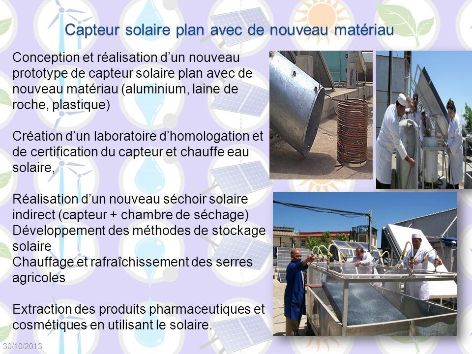 Capteur solaire plan avec de nouveau matériau