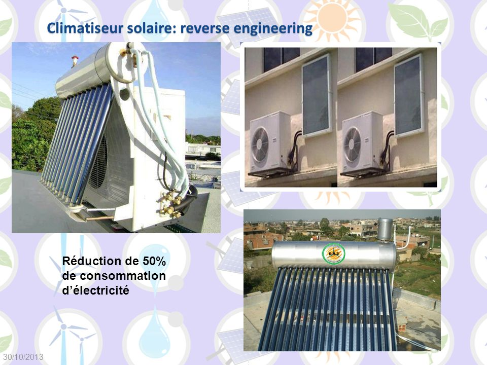 Climatiseur solaire: reverse engineering