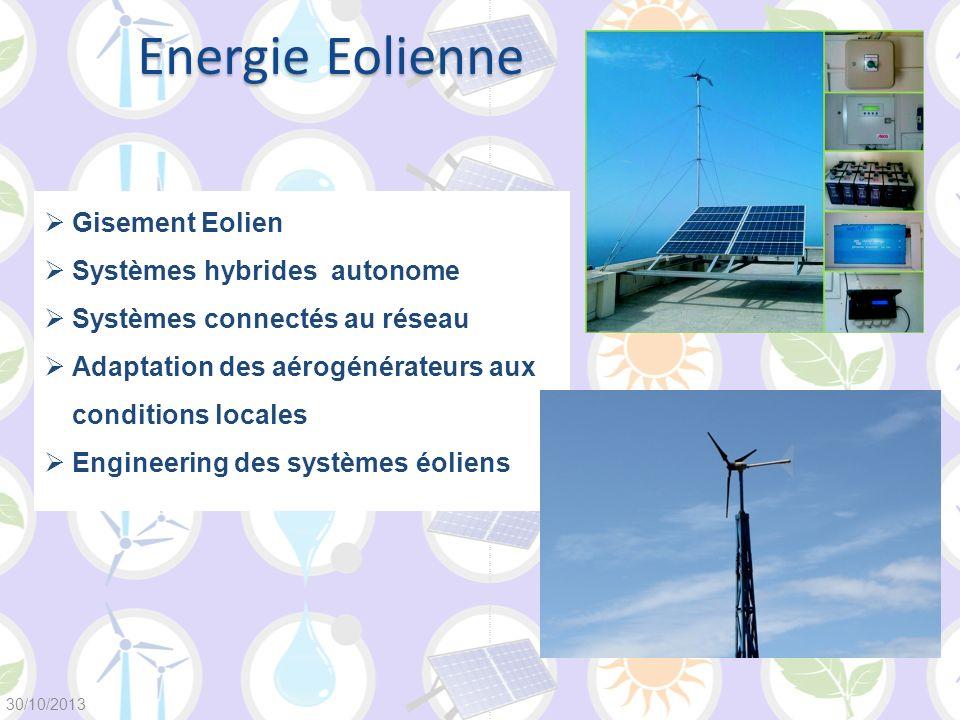 Energie Eolienne Gisement Eolien Systèmes hybrides autonome