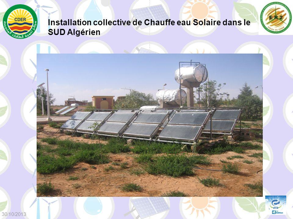 Installation collective de Chauffe eau Solaire dans le SUD Algérien