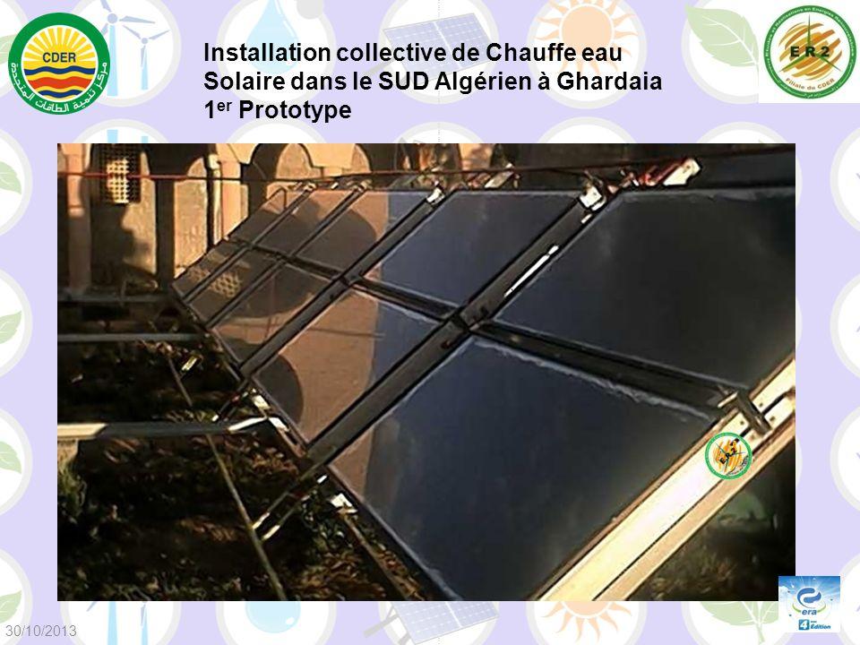 Installation collective de Chauffe eau Solaire dans le SUD Algérien à Ghardaia