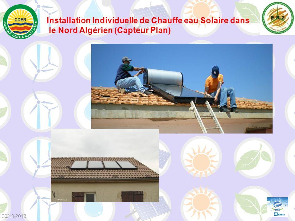 Installation Individuelle de Chauffe eau Solaire dans