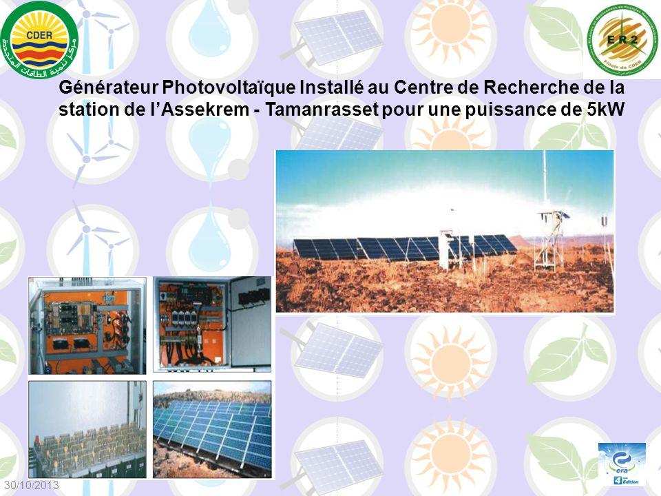 Générateur Photovoltaïque Installé au Centre de Recherche de la station de l'Assekrem - Tamanrasset pour une puissance de 5kW