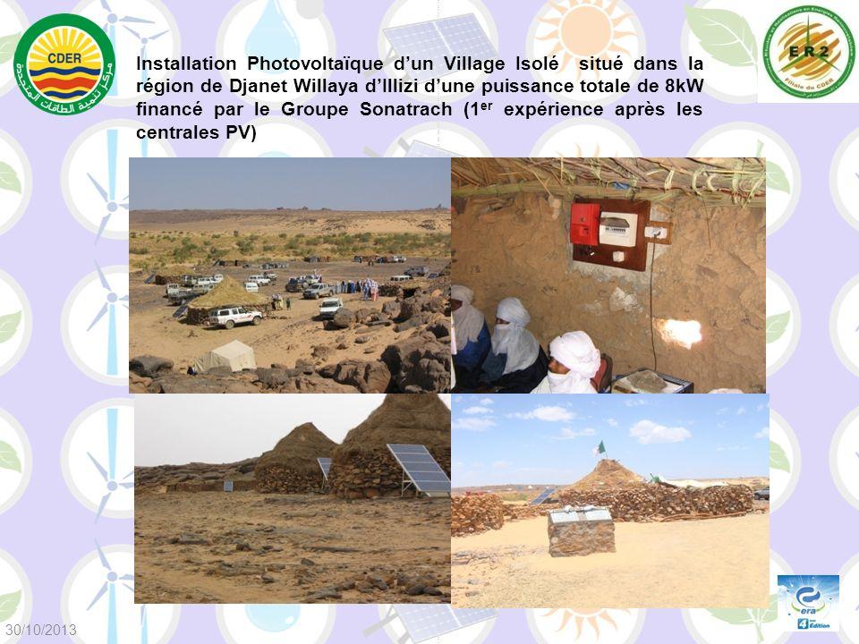 Installation Photovoltaïque d'un Village Isolé situé dans la région de Djanet Willaya d'Illizi d'une puissance totale de 8kW financé par le Groupe Sonatrach (1er expérience après les centrales PV)
