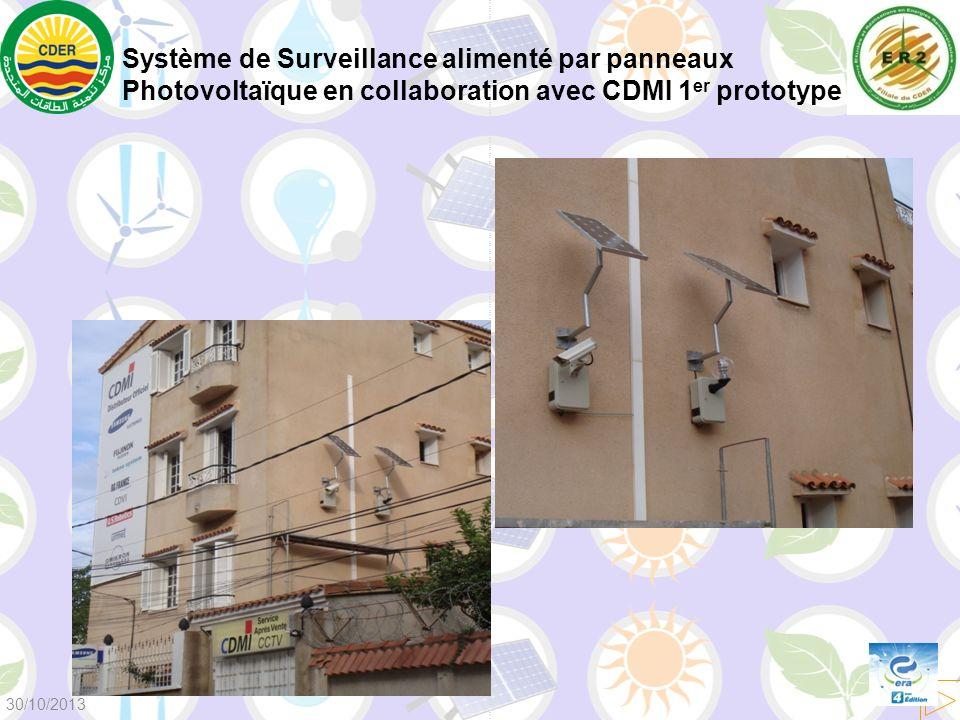 Système de Surveillance alimenté par panneaux Photovoltaïque en collaboration avec CDMI 1er prototype
