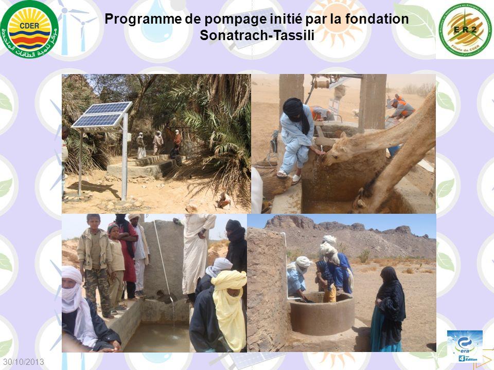 Programme de pompage initié par la fondation Sonatrach-Tassili