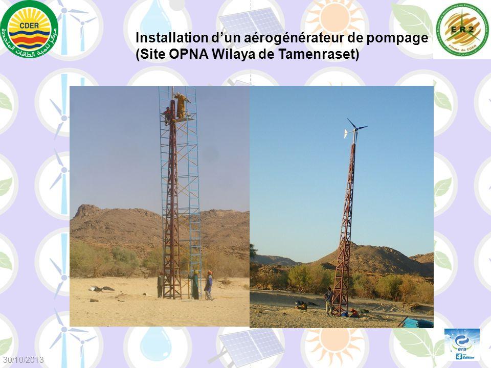 Installation d'un aérogénérateur de pompage