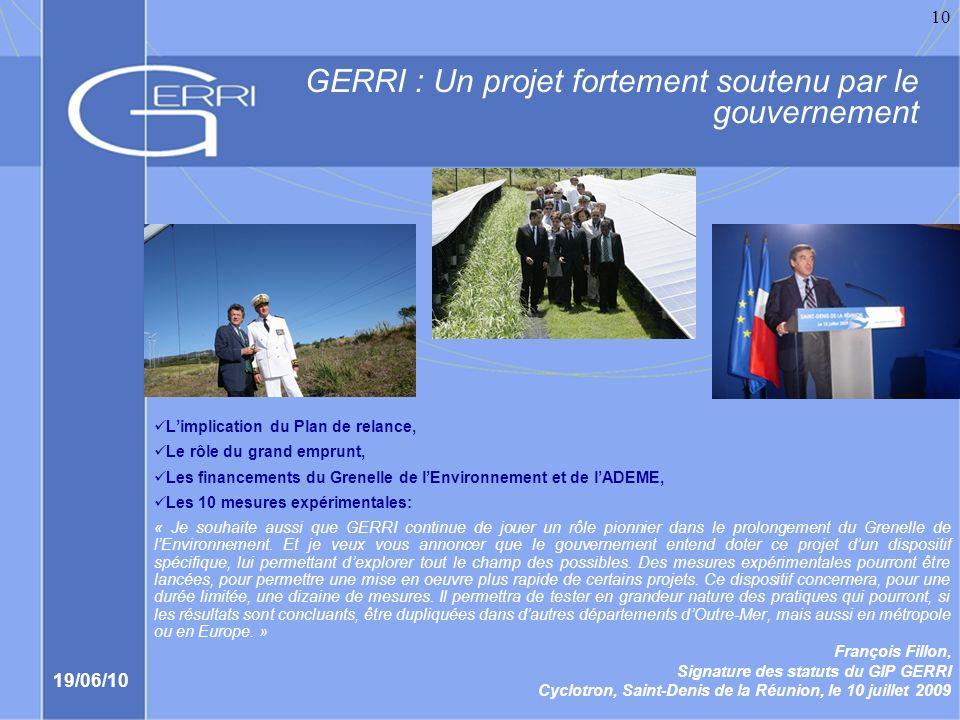 GERRI : Un projet fortement soutenu par le gouvernement