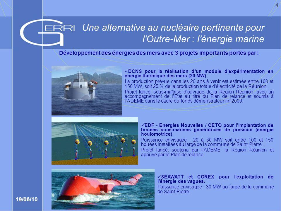 Une alternative au nucléaire pertinente pour l'Outre-Mer : l'énergie marine