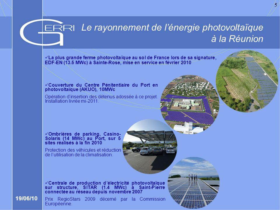 Le rayonnement de l'énergie photovoltaïque à la Réunion