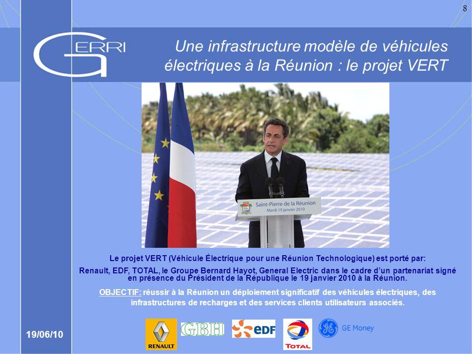 Une infrastructure modèle de véhicules électriques à la Réunion : le projet VERT